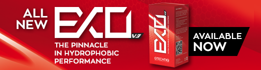 All new EXO V3 - The Pinnacle of Hyrdophobic Performance - Available now